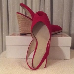 Michael Kors Red Wedges